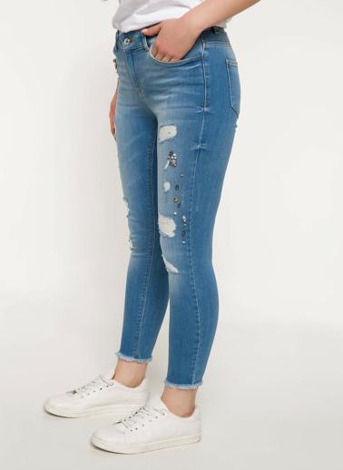 DeFacto Anna Yüksek Bel Süper Skinny Denim Pantolon Mavi